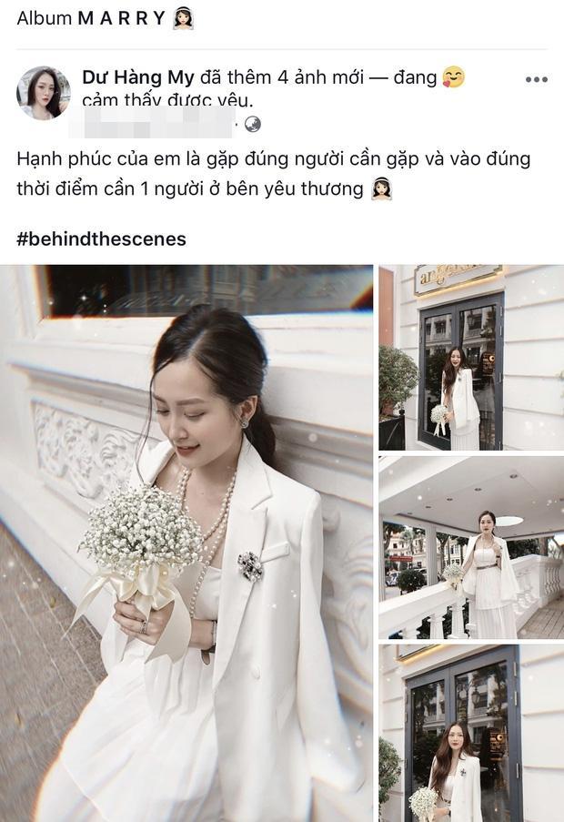 Đăng ảnh cưới xinh đẹp một mình, em họ Hương Tràm hé lộ sắp theo chồng bỏ cuộc chơi-1