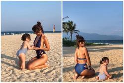 Siêu mẫu Hà Anh nóng bỏng khi diện bikini ở Đà Nẵng