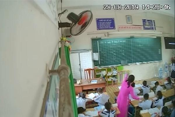 Bí mật gắn camera, phụ huynh phát hiện cô giáo liên tục đánh mắng học sinh-1