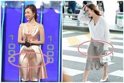 Đầm lụa tai hại khiến Midu gặp sự cố kém duyên y chang Park Min Young
