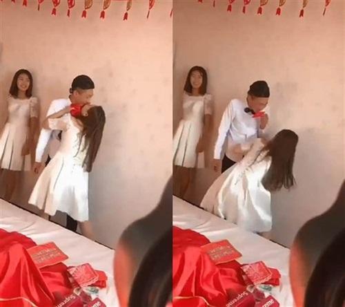 Đám cưới bạn thân, phù dâu bị bạn chú rể lao vào sàm sỡ-1