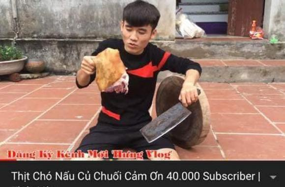 Cậu con trai nổi tiếng của bà Tân Vlog bị dân mạng kêu gọi tẩy chay khi làm video ăn thịt chó-2