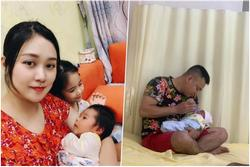 Tổ chức tiệc đầy tháng cho con, nhan sắc bỉm sữa của vợ Tự Long gây chú ý