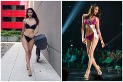 Sau 4 năm thi Miss Universe, Phạm Hương lại catwalk với bikini nhưng đã khác xưa nhiều lắm rồi