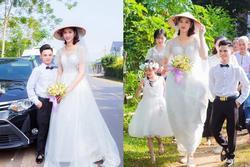 Mạng xã hội lùng sục sự thật về bức ảnh cô dâu 1m94 lấy chú rể cao 1m4 ở Hải Phòng