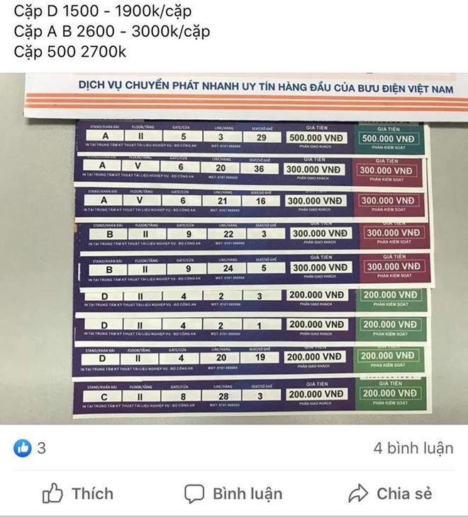 Cặp vé chợ đen trận Việt Nam - Malaysia giá ngang một chỉ vàng-1