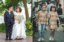 Cặp đôi tí hon nhất Việt Nam khoe ảnh cưới, dân mạng giật mình vì thân hình quá giống học sinh