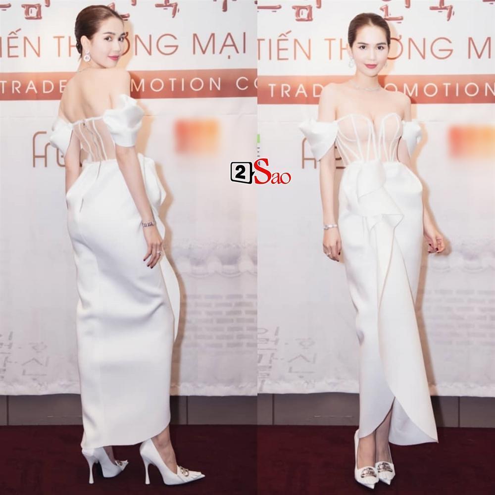 Ngọc Trinh nửa kín nửa hở với corset xuyên thấu quấn khăn, gợi nhớ bộ đồ thị phi từng mặc ở Cannes-7