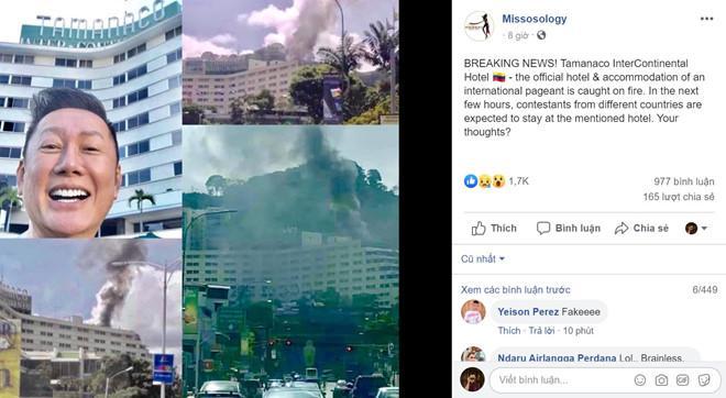 Sự thật bất ngờ vụ cháy khách sạn nơi Kiều Loan và thí sinh Miss Grand đang lưu trú tại Venezuela-1