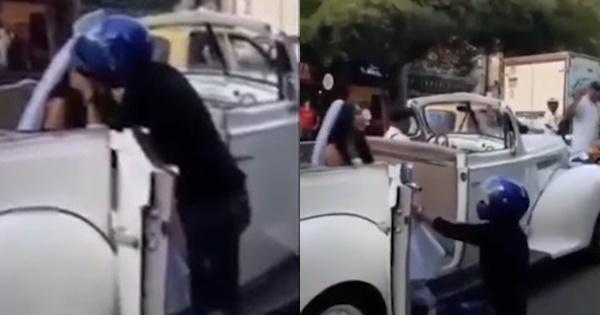 HOT: Trên đường đến đám cưới, cô dâu bị người yêu cũ chặn xe cưỡng hôn giữa thanh thiên bạch nhật-1