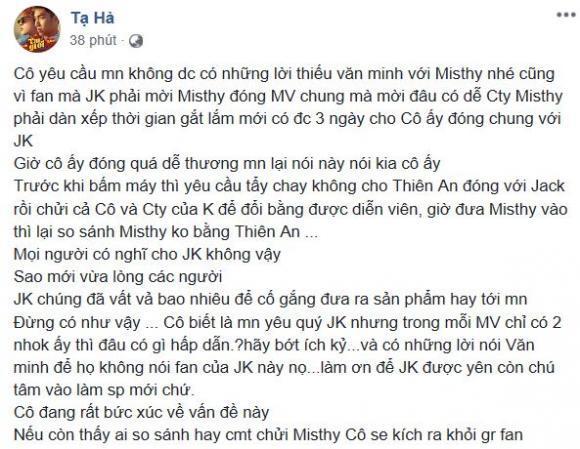 K-ICM van xin fan cuồng ngưng phỉ báng Misthy chỉ vì tội dám đóng cảnh thân mật với Jack-4