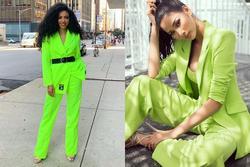 Bản tin Hoa hậu Hoàn vũ 9/10: Hoàng Thùy 'hạ đo ván' đối thủ khi đụng hàng suit neon