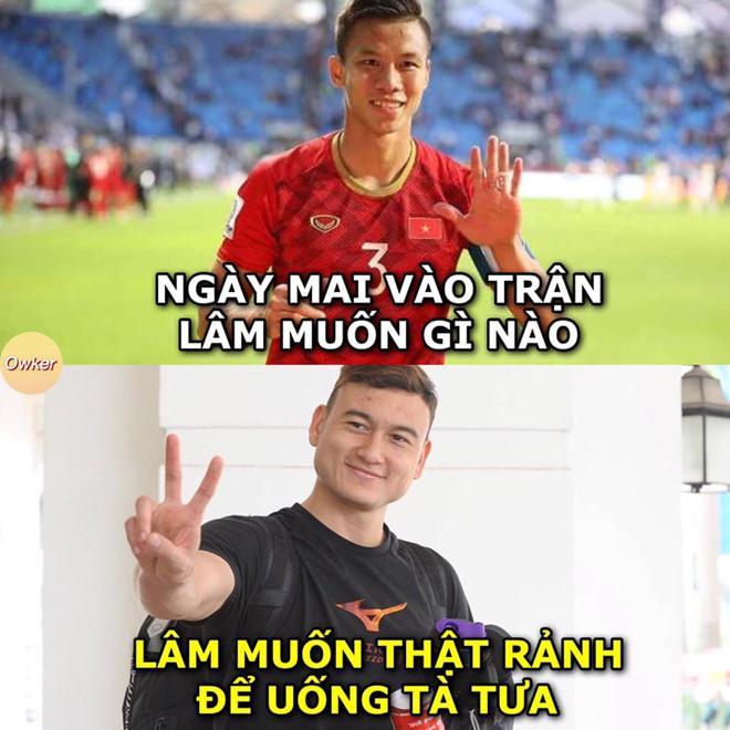 Ảnh chế Văn Lâm muốn rảnh để uống tà tưa trước trận gặp Malaysia-3