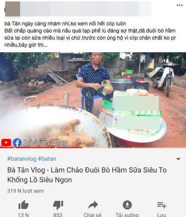 Sao quả tạ lại soi chiếu khi Bà Tân Vlog bị bóc quảng cáo lố ở clip làm món đuôi bò hầm sữa-3