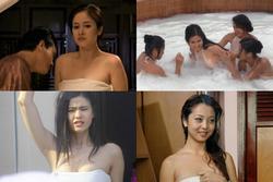 Vợ cũ Phan Thanh Bình bị tụt khăn, Hà Tăng suýt lộ ngực khi đóng cảnh tắm trong phim