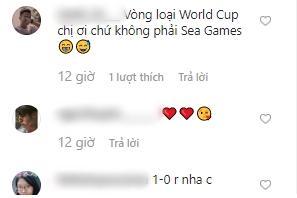 Đông Nhi tẽn tò khi nhanh tay viết nhầm World Cup thành SEA Games khi mặc áo đôi cổ vũ đội tuyển Việt Nam cùng Ông Cao Thắng-3