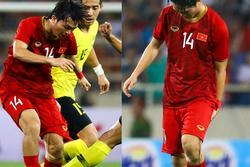 Không ngại va chạm, hình ảnh Tuấn Anh nén đau di chuyển khi đàn em ghi bàn làm triệu fans lo lắng