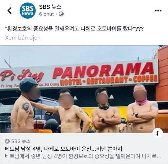 Vụ Hiếu Orion khỏa thân lái môtô trên Mã Pì Lèng lên bảng tin nóng của Đài truyền hình SBS Hàn Quốc-3