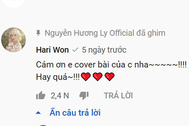 Hari Won bị nghi ngờ phải trả 20 triệu cho Hương Ly để thánh cover đồng ý hát lại bài mới mà vẫn bể kèo-4