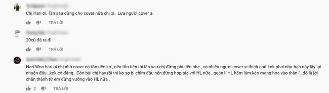 Hari Won bị nghi ngờ phải trả 20 triệu cho Hương Ly để thánh cover đồng ý hát lại bài mới mà vẫn bể kèo-6