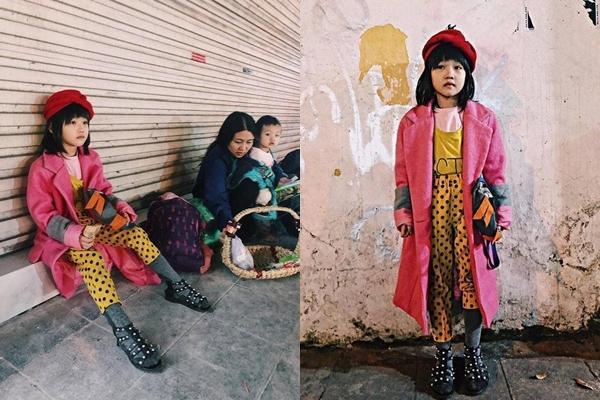 Bé gái vô gia cư ở Hà Nội nổi tiếng nhờ phối đồ như fashionista vẫn theo mẹ bán hàng rong mỗi ngày-1