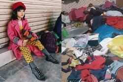 Bé gái vô gia cư ở Hà Nội nổi tiếng nhờ phối đồ như fashionista vẫn theo mẹ bán hàng rong mỗi ngày