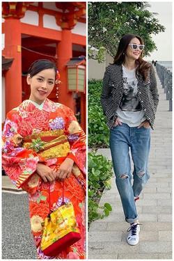 'Chị chị em em' Chi Pu - Thanh Hằng lên đồ đối lập: Em diện kimono - chị hơi hướng menswear