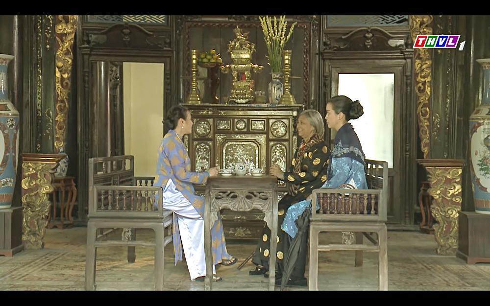 Cao Thái Hà vỗ mặt mẹ chồng chan chát trong tập 35 Tiếng sét trong mưa-1