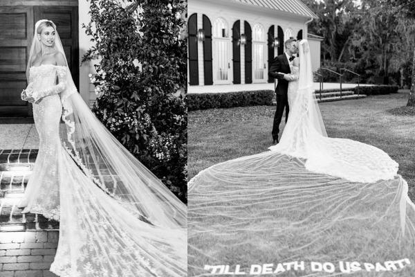 Hailey Bieber đi giày thể thao khiêu vũ cùng chồng trong lễ cưới-3