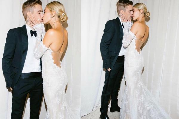 Hailey Bieber đi giày thể thao khiêu vũ cùng chồng trong lễ cưới-4
