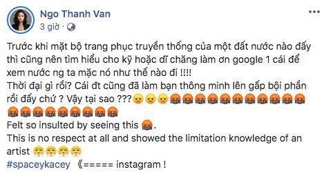 Ngô Thanh Vân kêu gọi cư dân mạng đánh sập page nữ ca sĩ Mỹ mặc áo dài không quần phản cảm-5