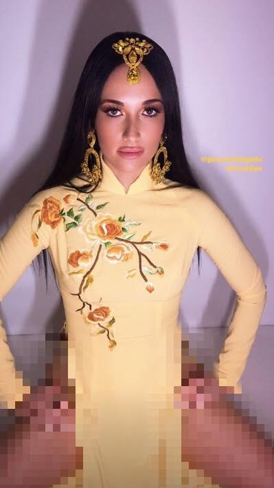 Ngô Thanh Vân kêu gọi cư dân mạng đánh sập page nữ ca sĩ Mỹ mặc áo dài không quần phản cảm-3