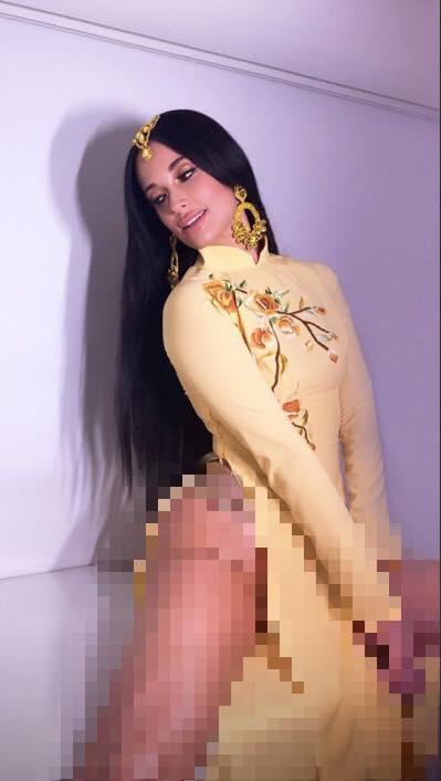 Ngô Thanh Vân kêu gọi cư dân mạng đánh sập page nữ ca sĩ Mỹ mặc áo dài không quần phản cảm-4