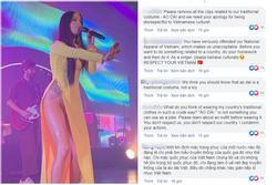 Khán giả Việt tấn công trang mạng của ca sĩ Mỹ mặc áo dài không quần