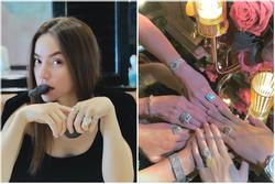 Đến sinh nhật người ta mà Hồ Ngọc Hà đeo kim cương 'áp đảo' bạn bè gần xa
