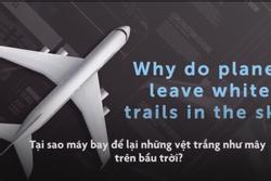 Tại sao máy bay để lại những vệt trắng như mây trên bầu trời