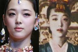 TRÙNG HỢP SỢ HÃI: Sulli chết trẻ có gương mặt giống hệt kỹ nữ nổi tiếng thời Joseon