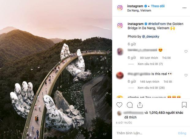 HOT: Cầu Vàng Đà Nẵng được MXH Instagram lăng xê trên tài khoản chính thức hơn 300 triệu lượt theo dõi, du khách toàn cầu tung hô hết lời!-2