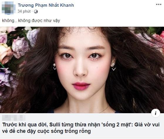Dàn hotface Việt từ không tin đến sốc tột cùng khi nghe hung tin Sulli treo cổ tự tử ở tuổi 25-6