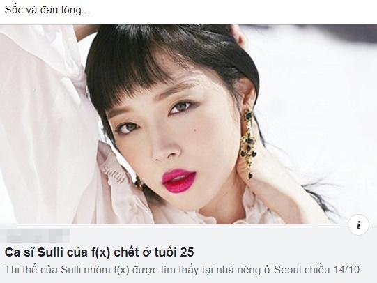 Dàn hotface Việt từ không tin đến sốc tột cùng khi nghe hung tin Sulli treo cổ tự tử ở tuổi 25-4
