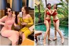 Kỳ Duyên - Minh Triệu tình tứ diện váy đôi rồi cùng nhau đập hộp iPhone 'tà tữa'