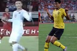 TRÙNG HỢP HÀI HƯỚC: Quang Hải nhiễm tư thế 'quỷ sứ' của trung vệ Malaysia ở trận gặp Indonesia