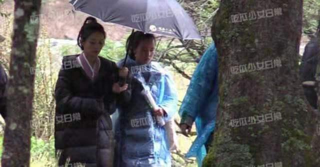 Triệu Lệ Dĩnh được khen ngợi vì chủ động cầm ô che mưa cho trợ lý-3