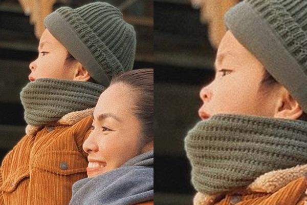 Lộ ảnh rõ mặt con trai Tăng Thanh Hà, dân mạng xuýt xoa vì giống hệt tiểu hoàng tử-2