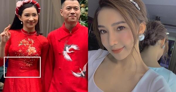 Lưu Đê Ly lộ vòng 2 to bất thường, gương mặt như dọa ma qua ảnh bị chụp lén trong lễ ăn hỏi với Huy DX-3