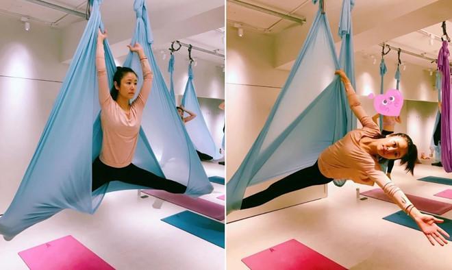 Lâm Tâm Như khoe cơ thể dẻo dai, thon gọn khi luyện tập yoga-1