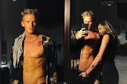 Miley Cyrus gây sốc với hình ảnh vô tư đặt tay vào chỗ 'nhạy cảm' của bạn trai mới