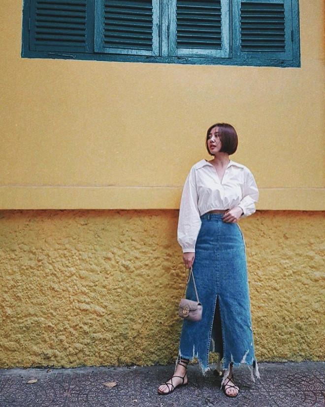 Văn Mai Hương đời thường chuộng diện váy cúp ngực, đồ dáng rộng-3