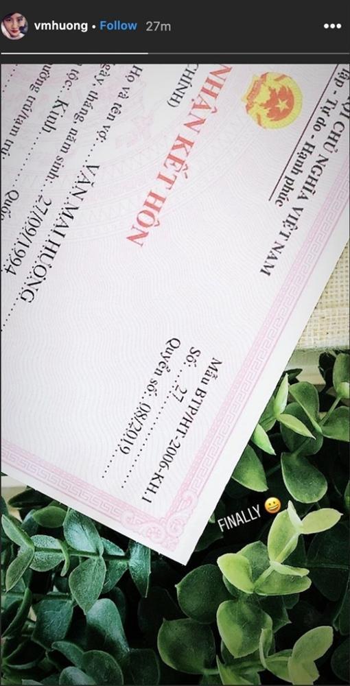 Dân mạng bóc phốt giấy đăng ký kết hôn của Văn Mai Hương là giả, nghi chiêu trò PR sản phẩm mới-1