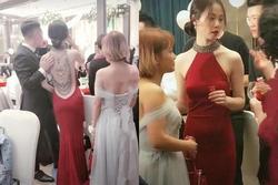 Cô dâu khoe lưng trần trong đám cưới, khi quay mặt khiến ai cũng ngỡ ngàng